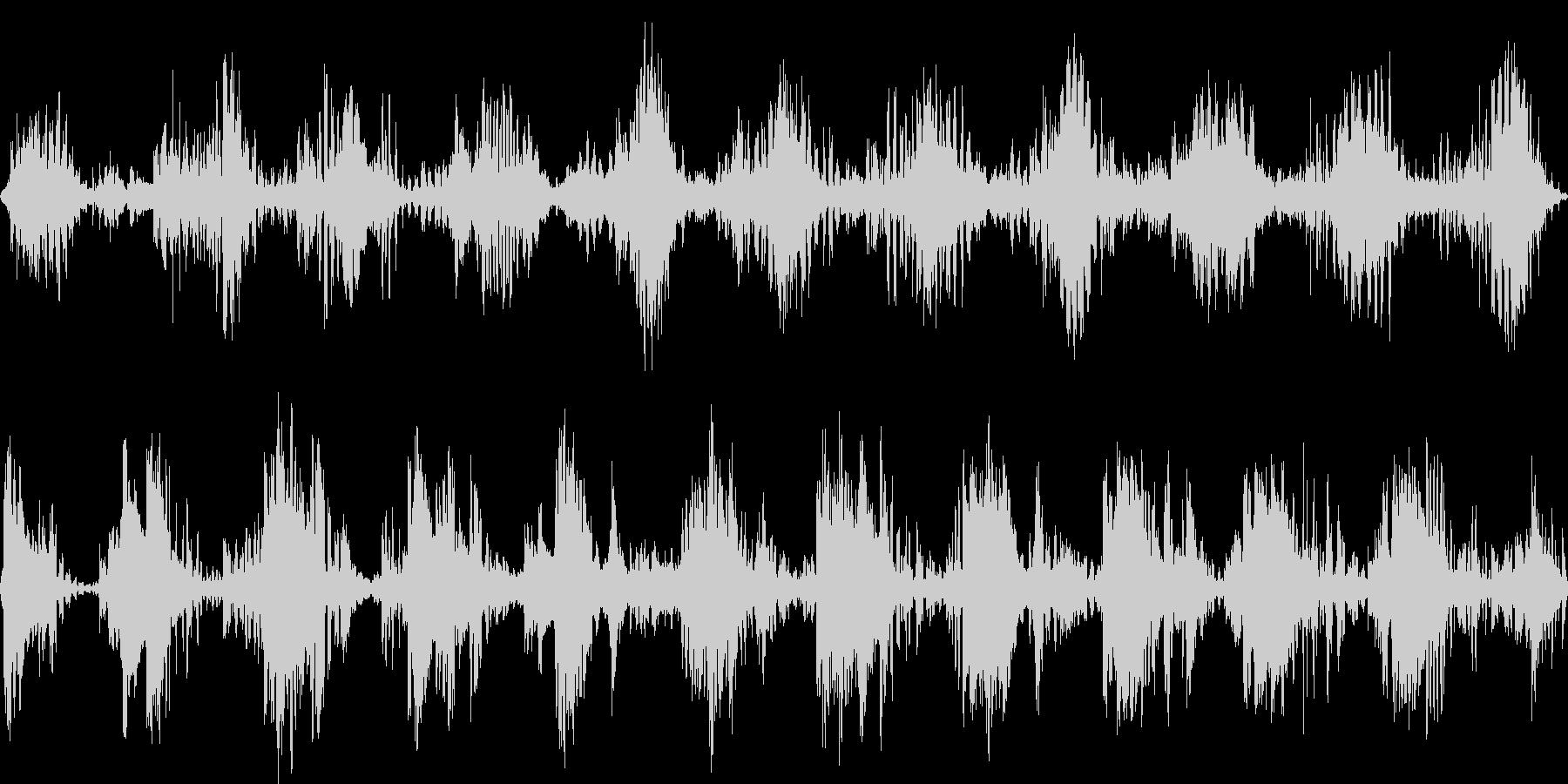 くねくねした不思議な環境音の未再生の波形