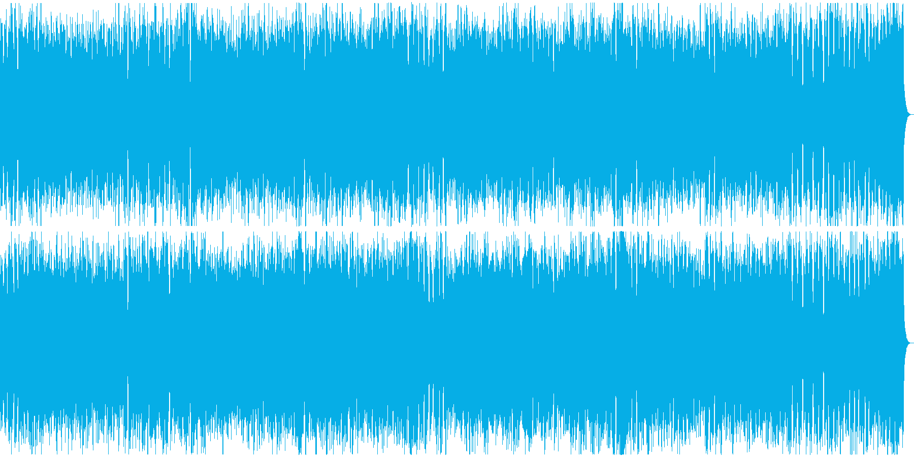 黒魔道士 ドライ版 疾走感あるバトル楽曲の再生済みの波形