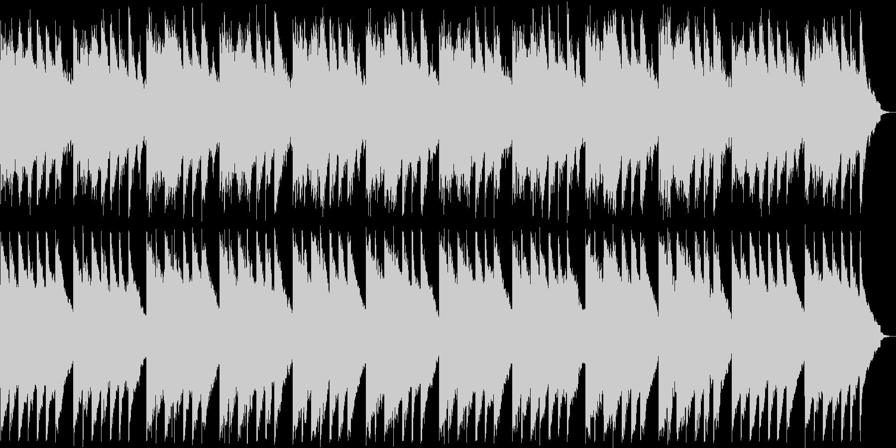 柔らかいリラクゼーションミュージックの未再生の波形