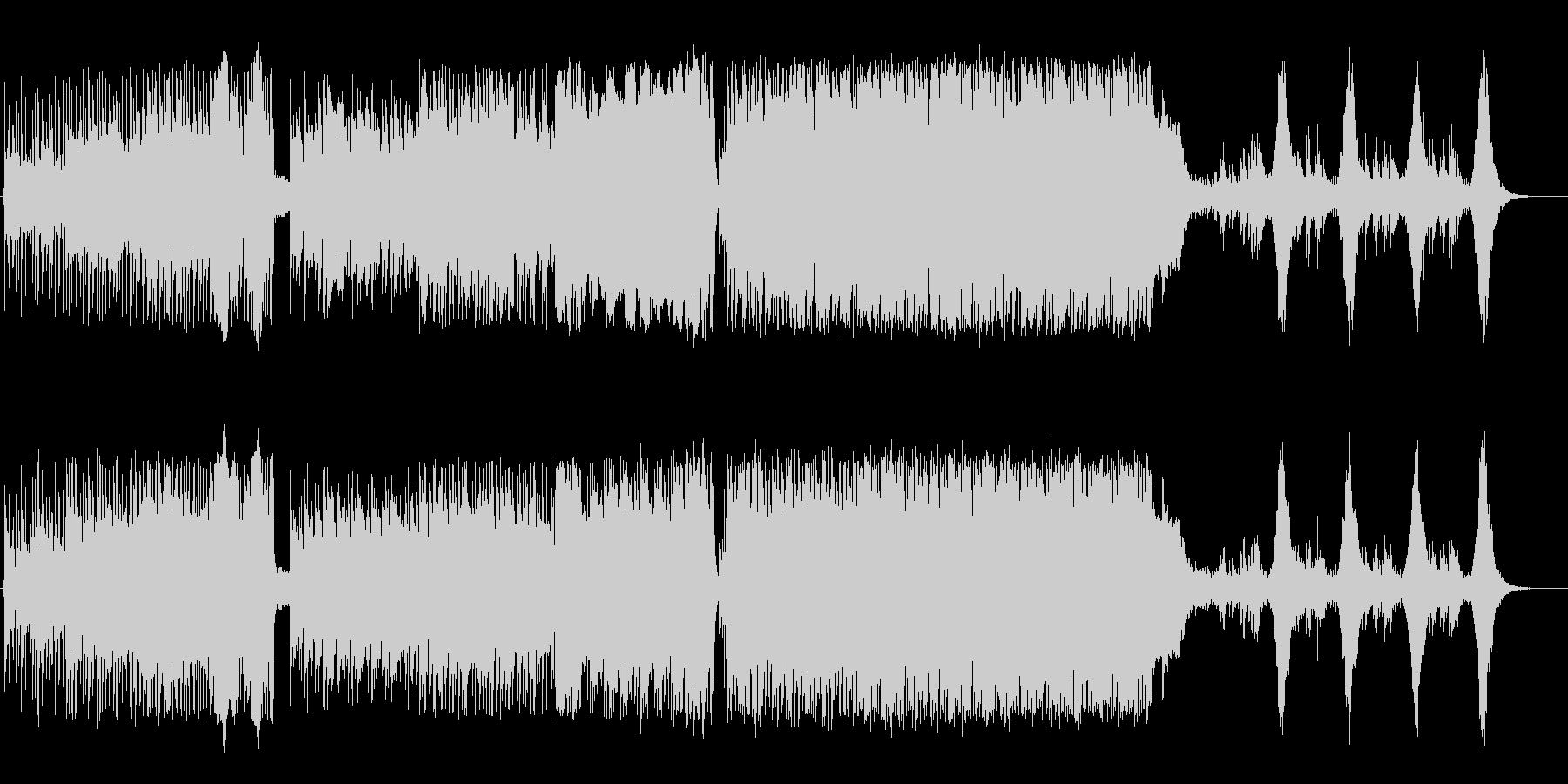 ケルト風アコースティックロックの未再生の波形
