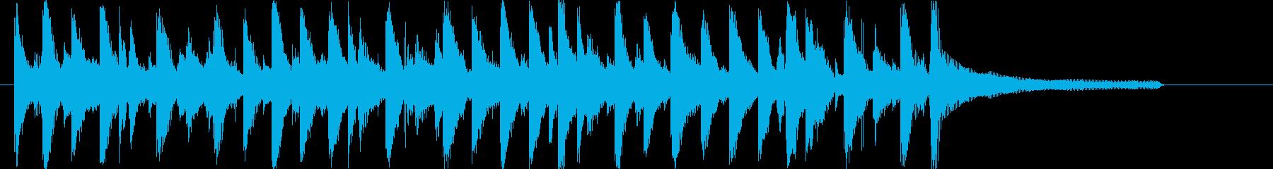 ほのぼの明るいアコースティックロゴ♪の再生済みの波形
