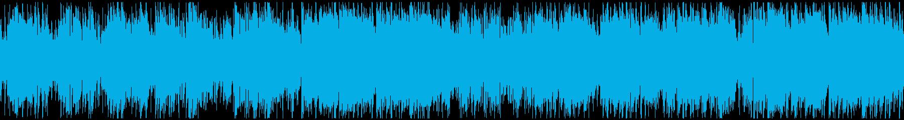 生演奏Sax穏やかフュージョン※ループ版の再生済みの波形