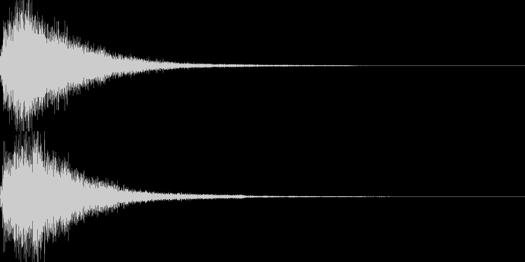 琴使用の和風決定スタート音の未再生の波形