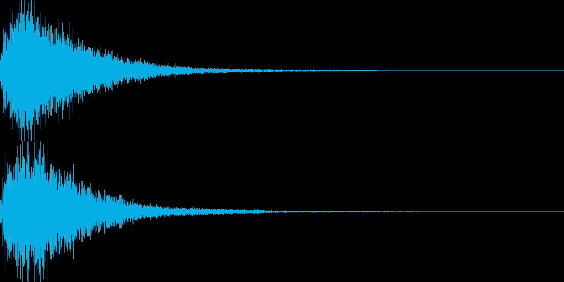琴使用の和風決定スタート音の再生済みの波形