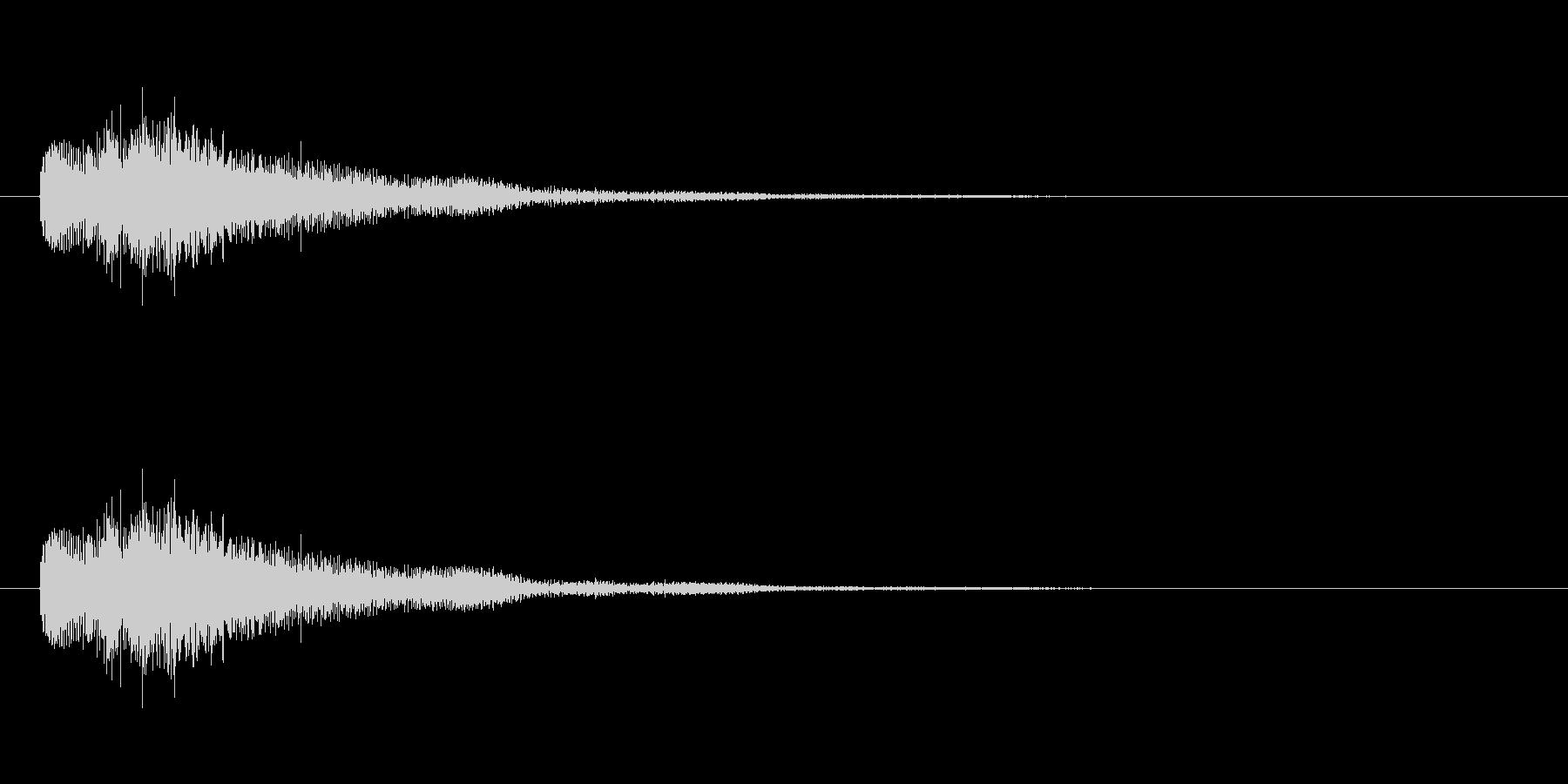 琴 ジングル(不思議、怪しい)の未再生の波形
