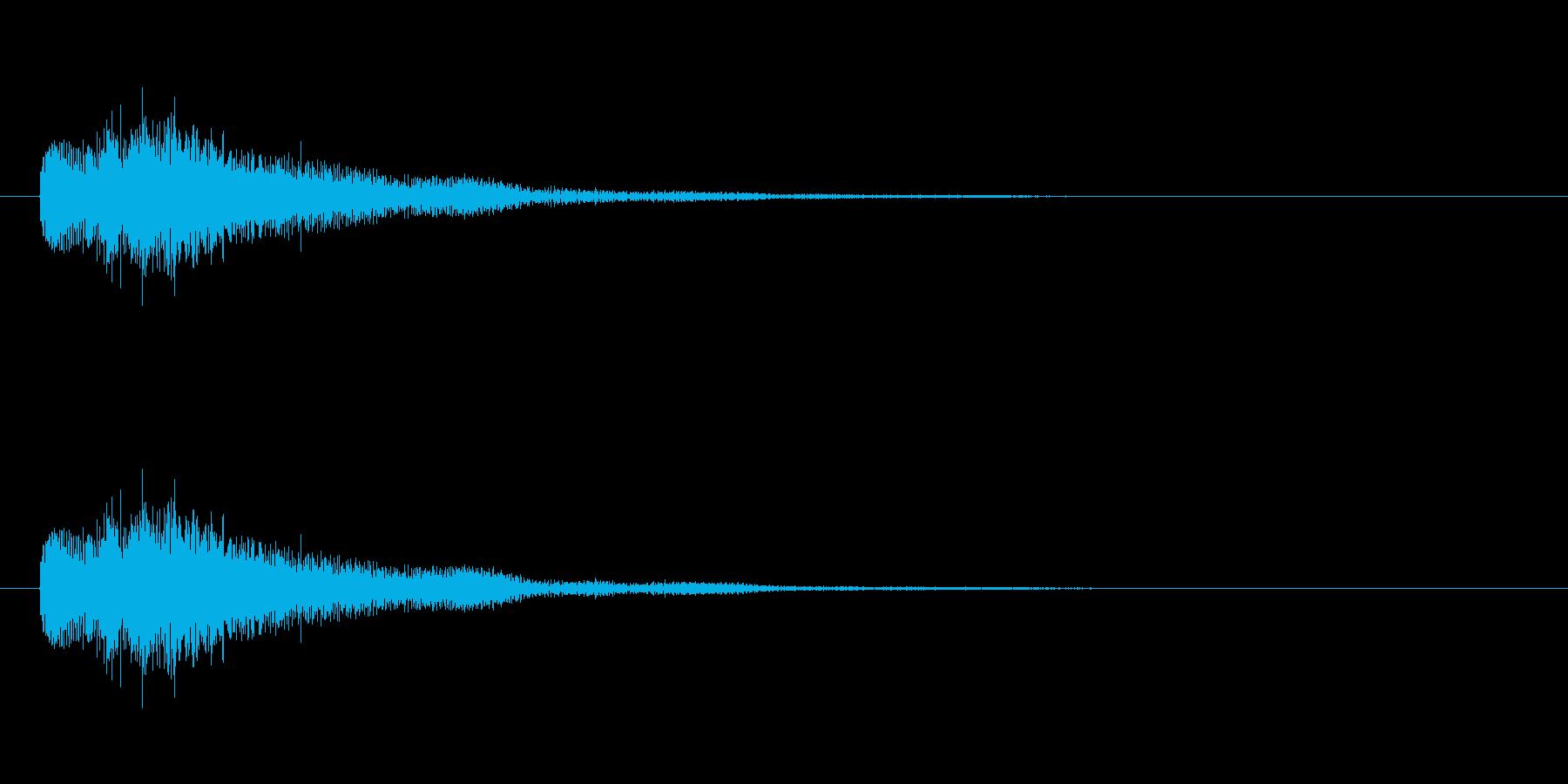 琴 ジングル(不思議、怪しい)の再生済みの波形