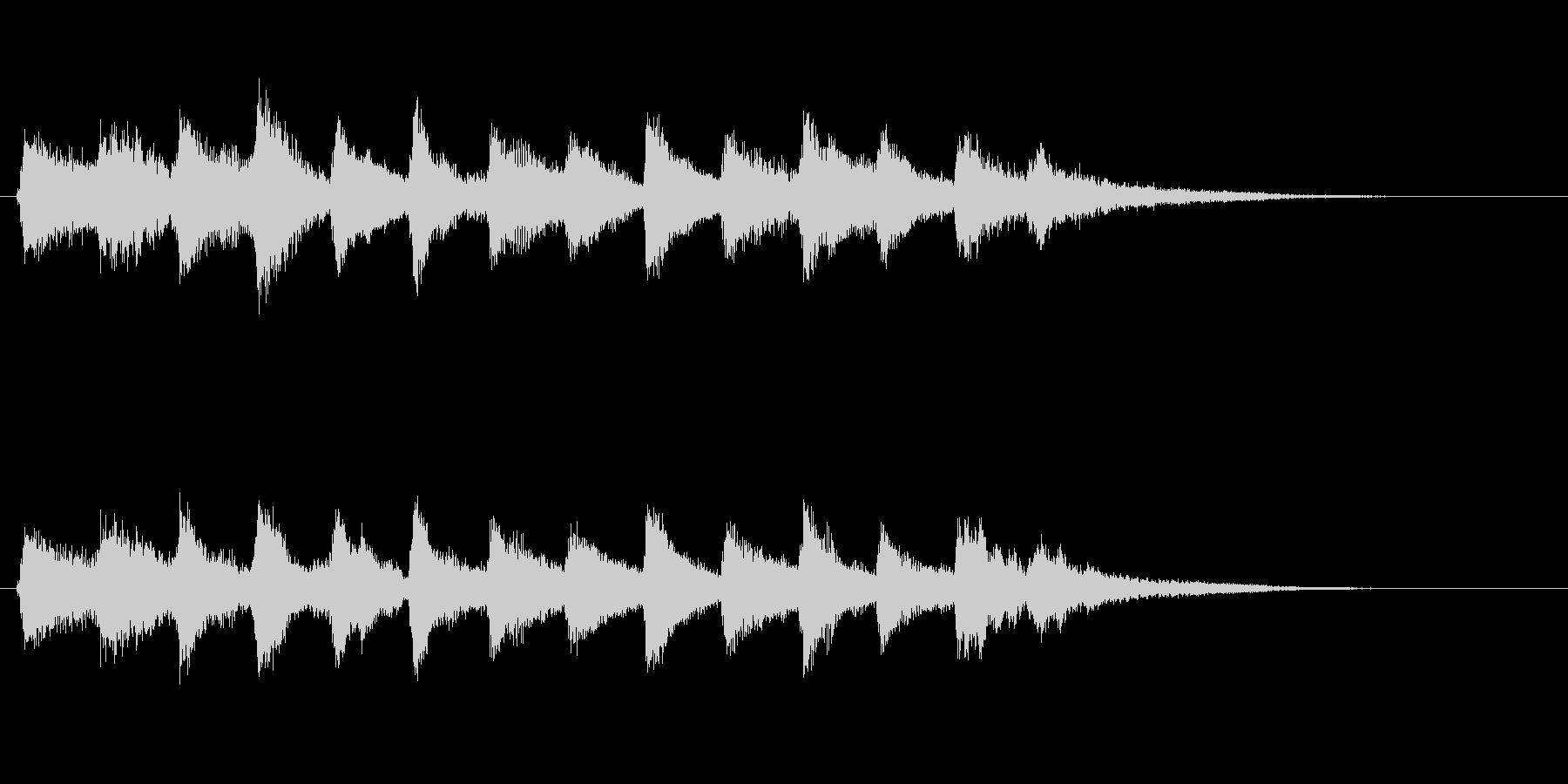 企業ロゴ表示用サウンドロゴ2(和風)の未再生の波形