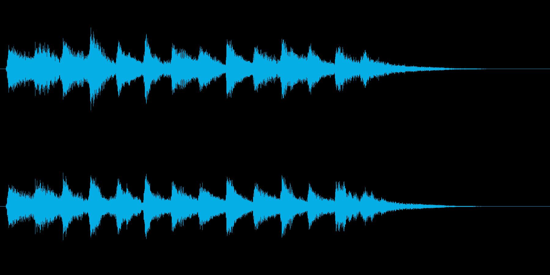 企業ロゴ表示用サウンドロゴ2(和風)の再生済みの波形
