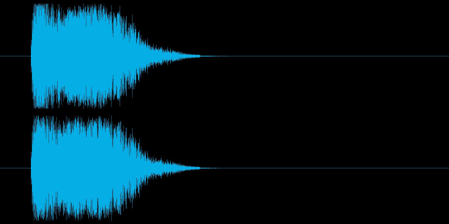 打撃音_ダメージ音の再生済みの波形