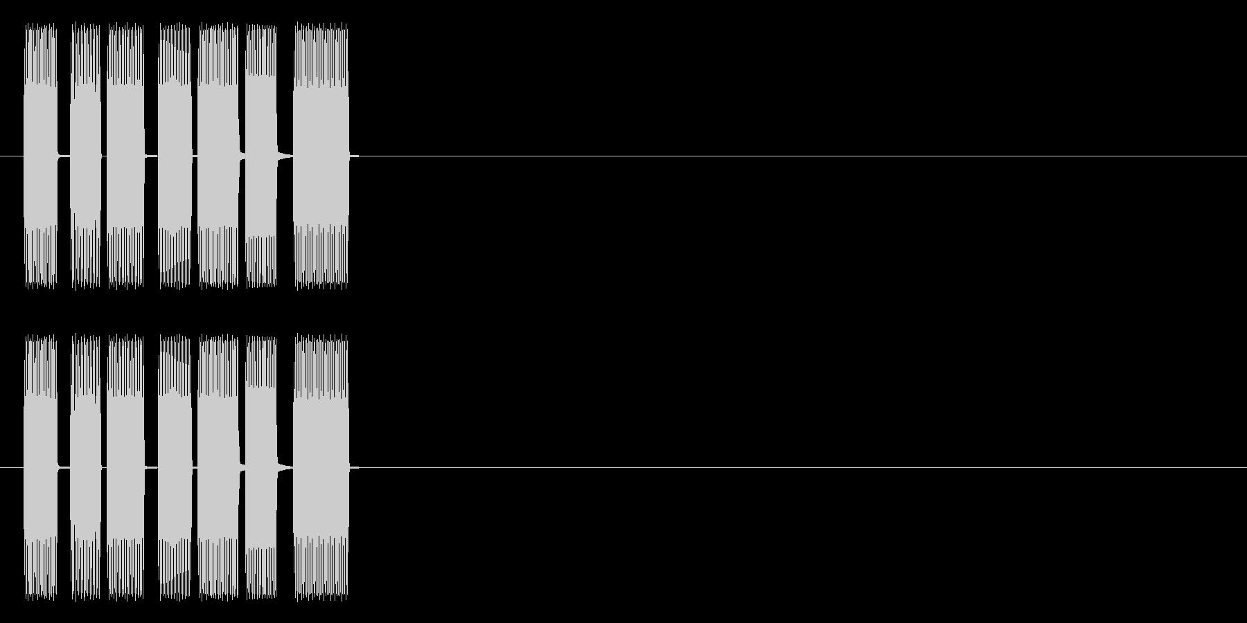 ティロリ(昔ゲーム風)の未再生の波形