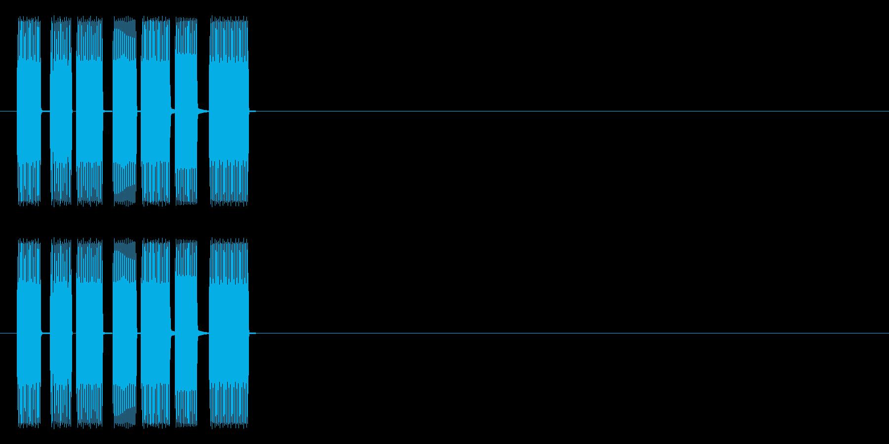 ティロリ(昔ゲーム風)の再生済みの波形