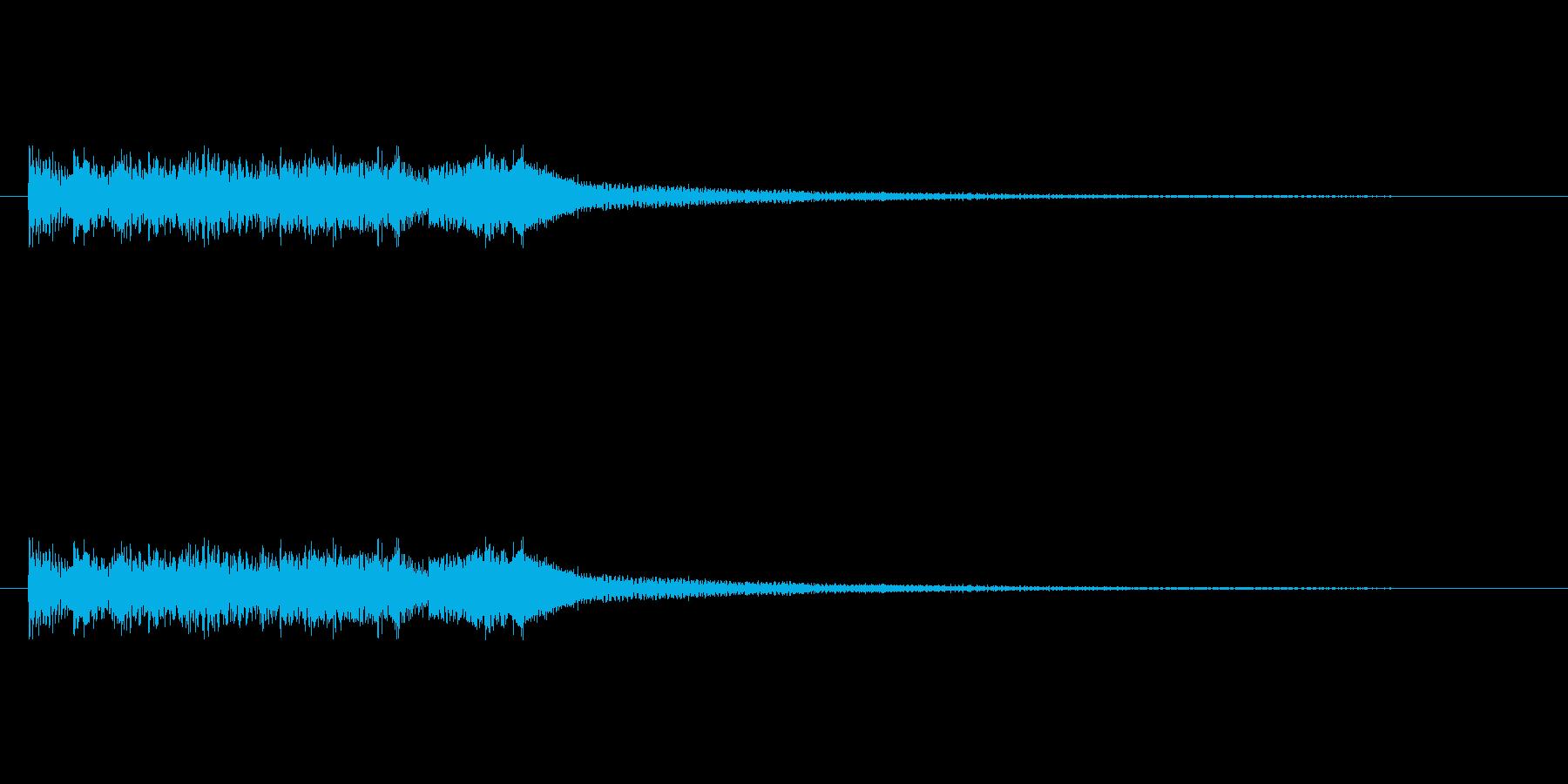 琴を鳴らしたような音(ゆっくり上昇)の再生済みの波形