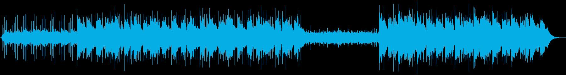 ゆったりと浮遊感ある夜のイメージの楽曲の再生済みの波形