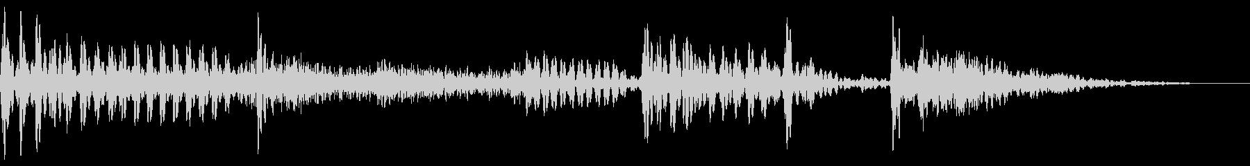 スラップベースとドラムの効果音用素材。の未再生の波形