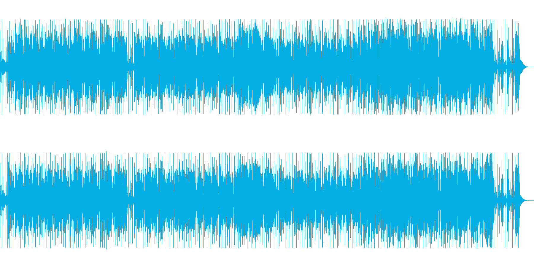 シンセの金属音が軽快なポップスの再生済みの波形