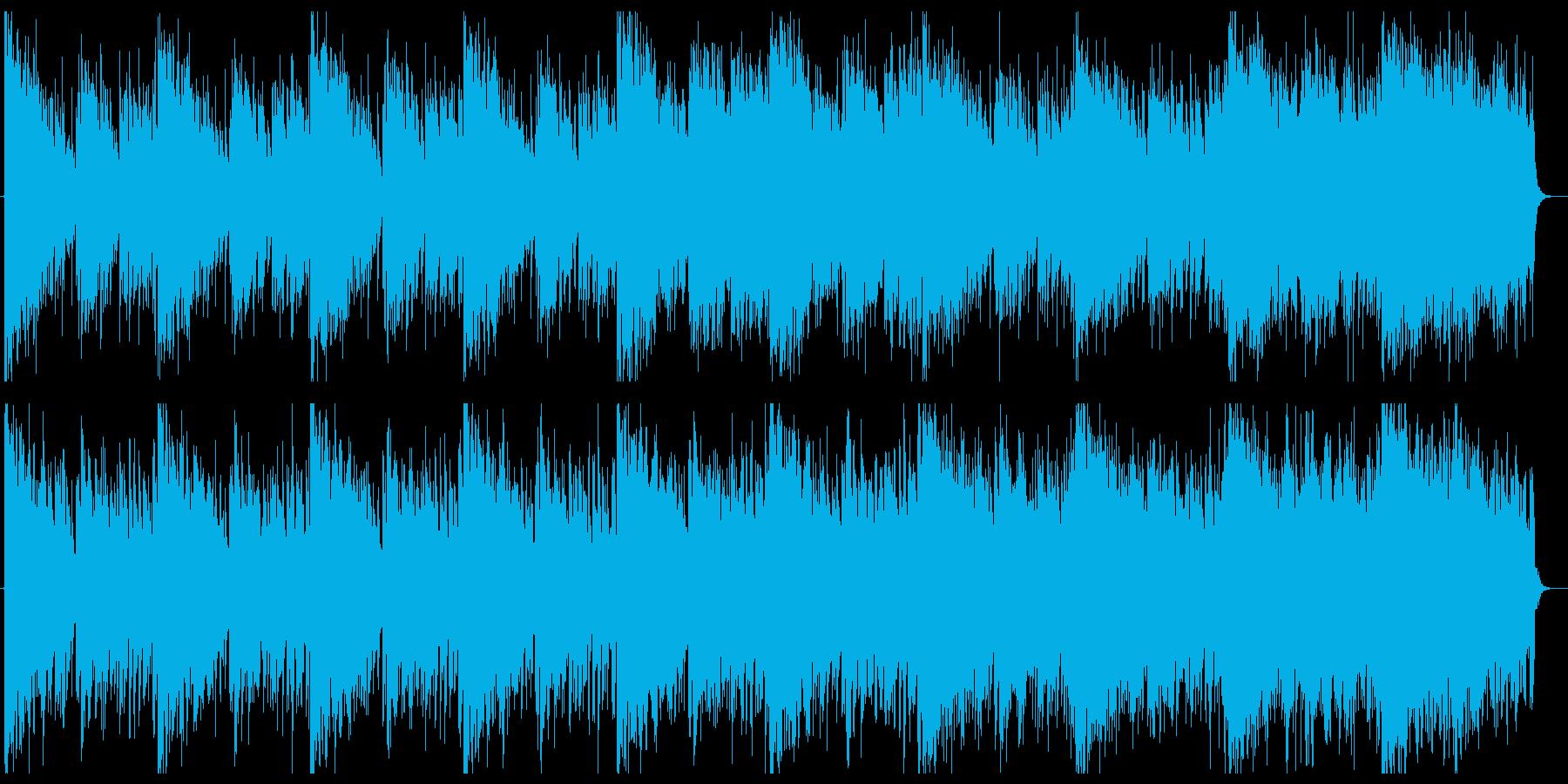 不思議で不気味な雰囲気の重厚オーケストラの再生済みの波形