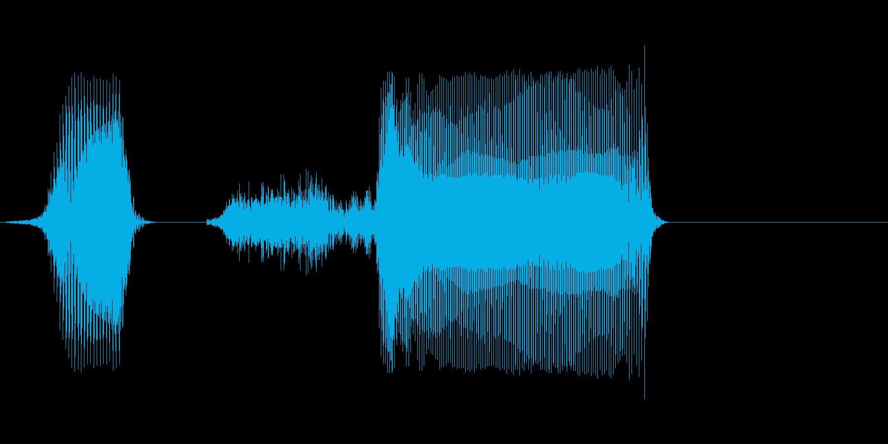 北西の再生済みの波形