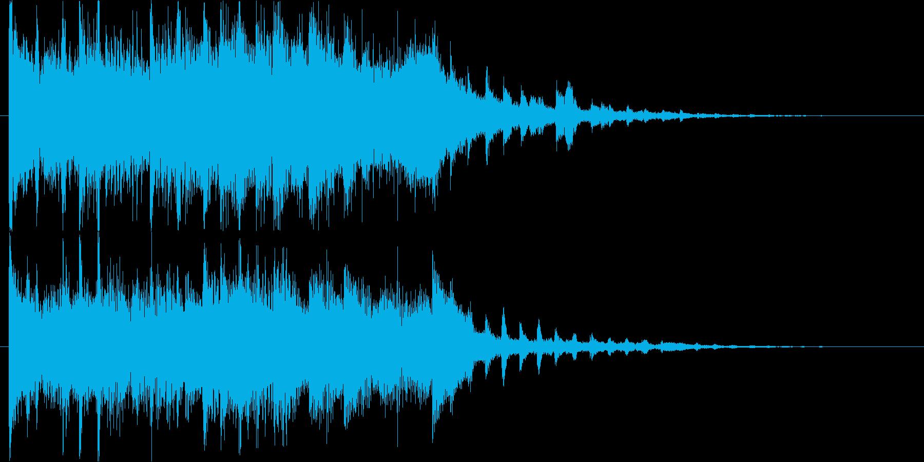 重厚で未来的・神秘的なデジタルロゴの再生済みの波形