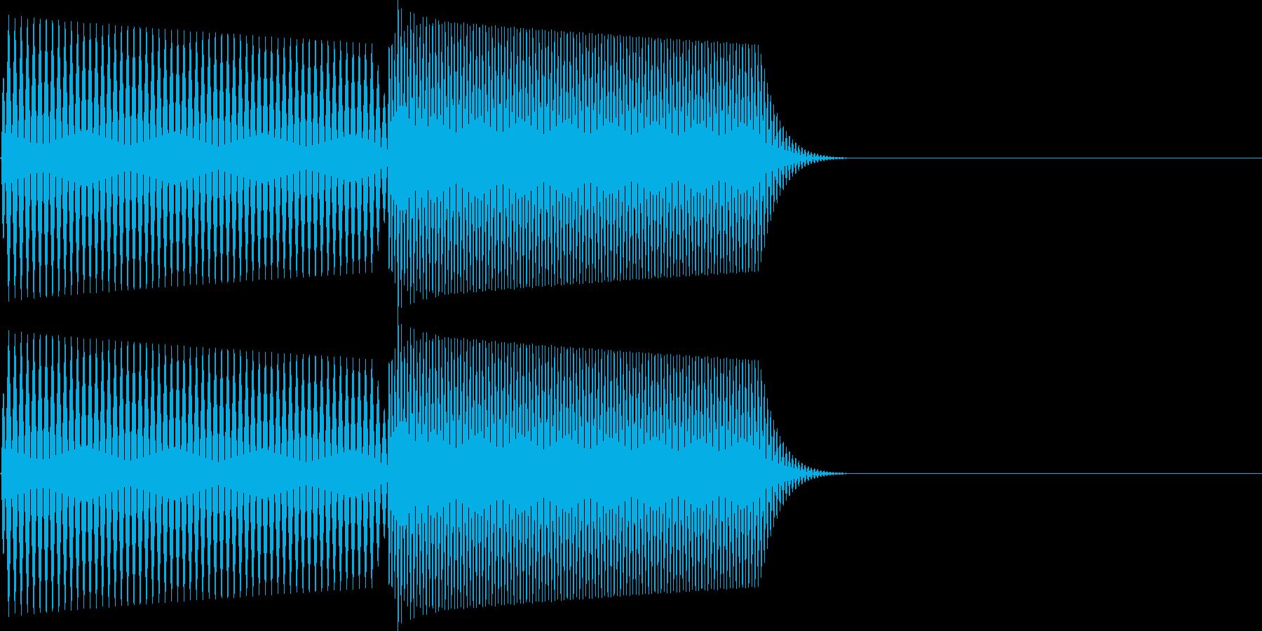 ピロ(カーソル移動 表示 決定)の再生済みの波形