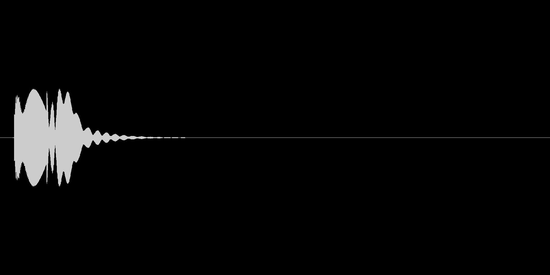マレットのコミカルな効果音2の未再生の波形