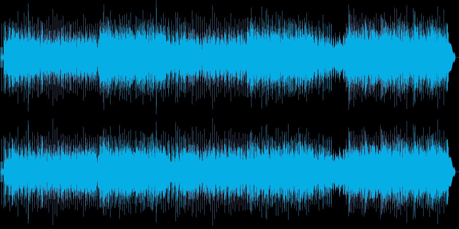 軽快な2010年代ガールズポップ風ロックの再生済みの波形