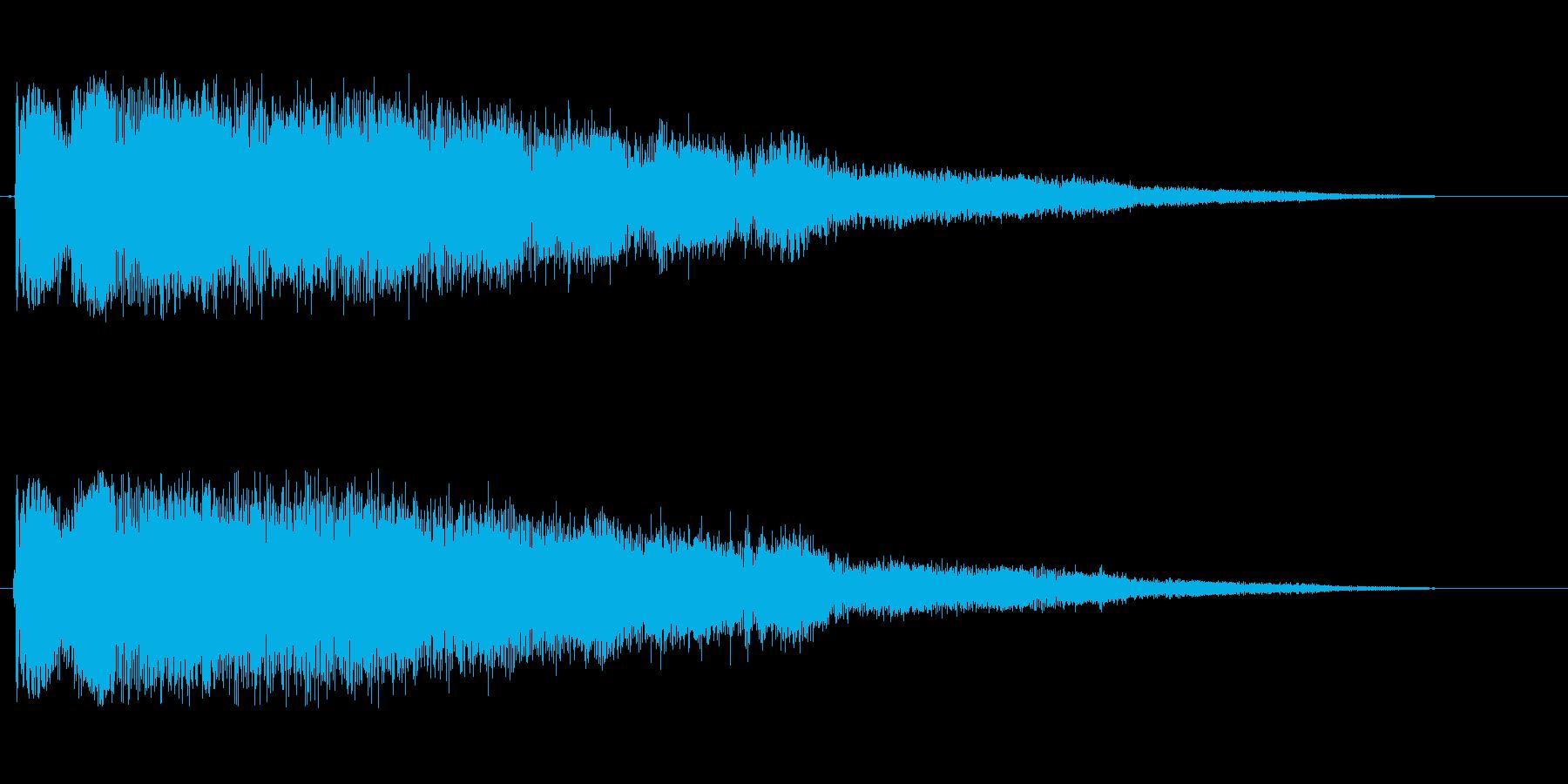 ピヨヨヨヨヨヨン(目が覚める効果音)の再生済みの波形