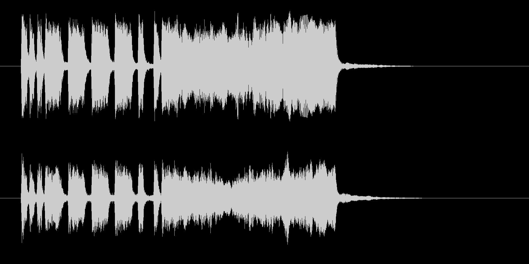 勢いと華やかなシンセ管楽器サウンド短めの未再生の波形