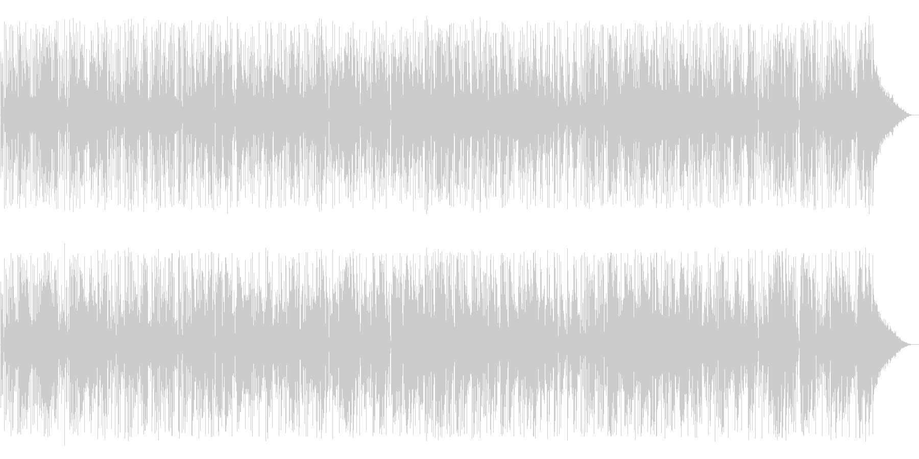 ほのぼのとしたレゲエソングの未再生の波形