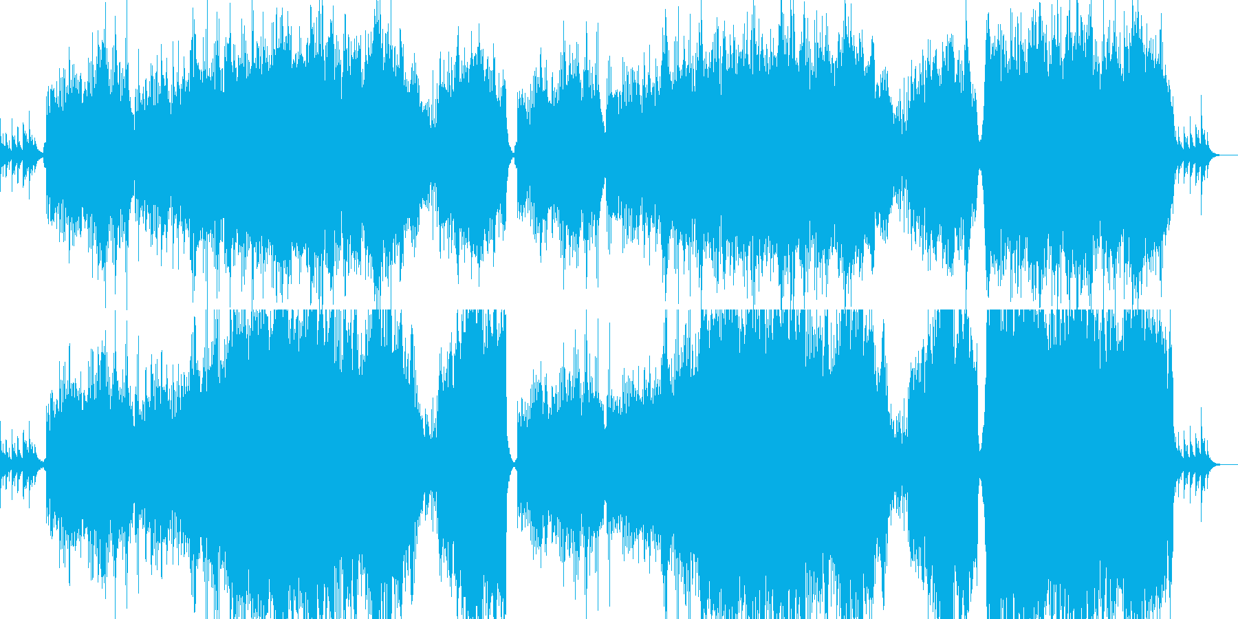 印象的なピアノと感動的なオーケストラの再生済みの波形