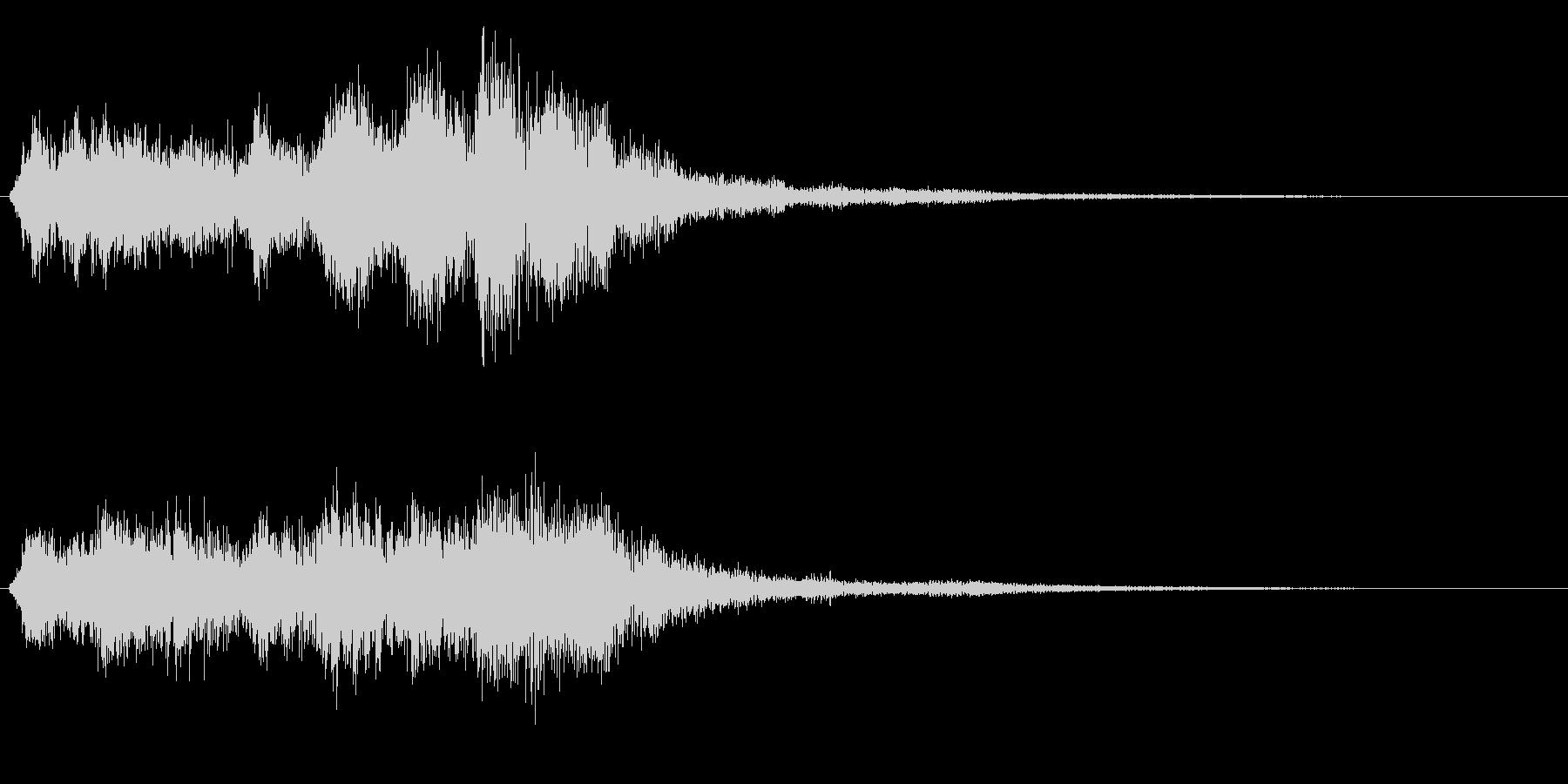 勇壮なバイオリンの場面転換音 CMインの未再生の波形