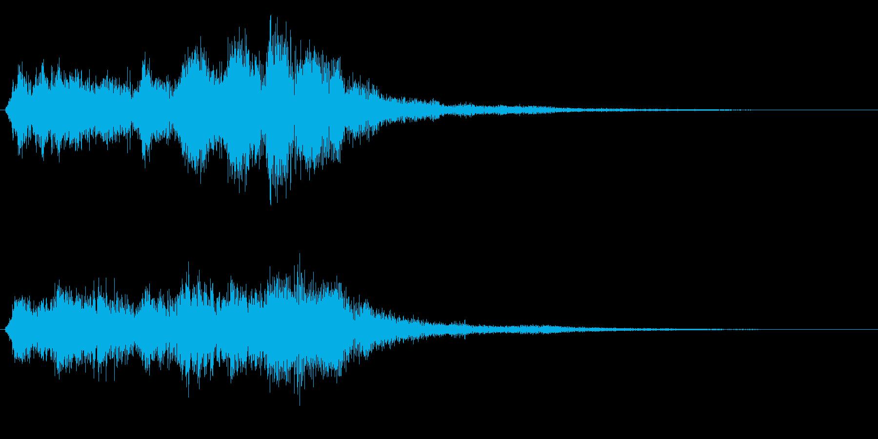 勇壮なバイオリンの場面転換音 CMインの再生済みの波形