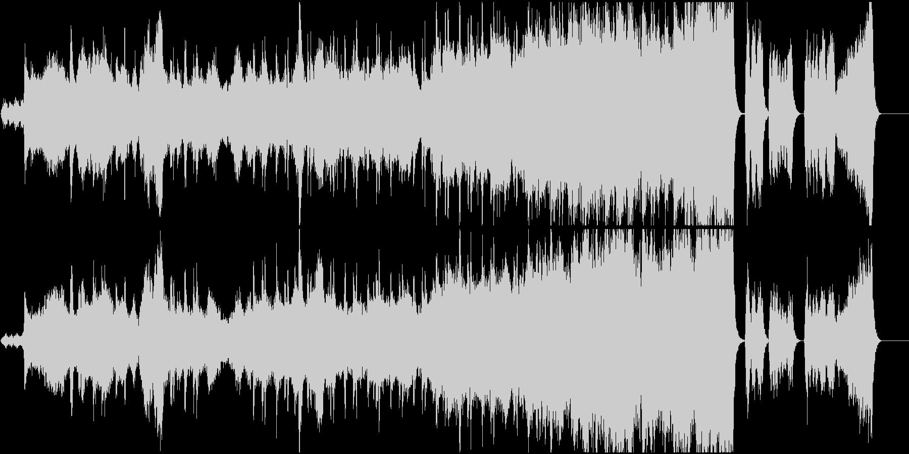 幻想的なオーケストラと合唱の未再生の波形