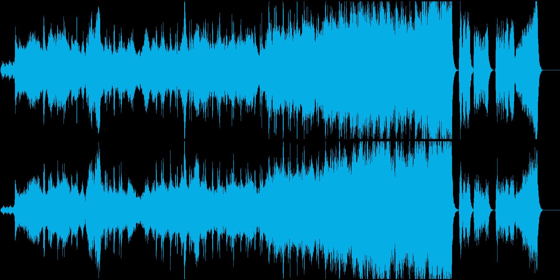 幻想的なオーケストラと合唱の再生済みの波形