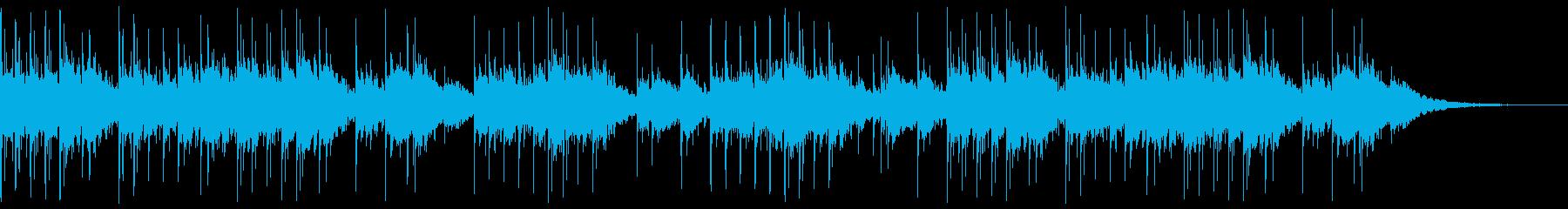 不穏なシーン向けの静かなオルゴール曲の再生済みの波形