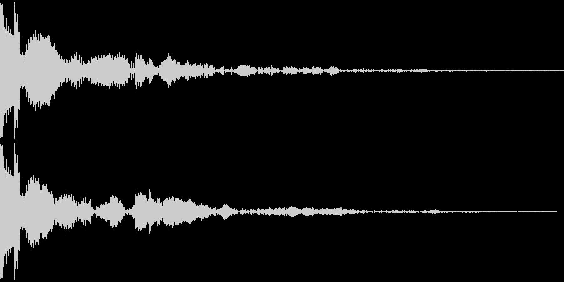 キコン(01_クリック_03)の未再生の波形