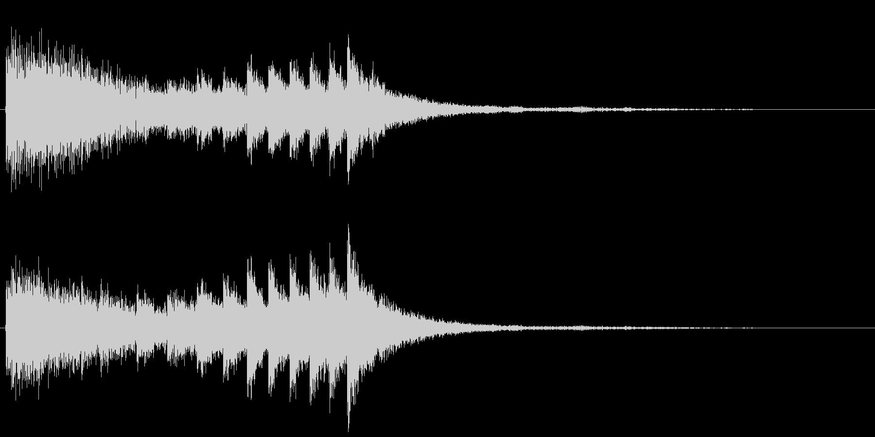 中華ドラ+シンバルの未再生の波形