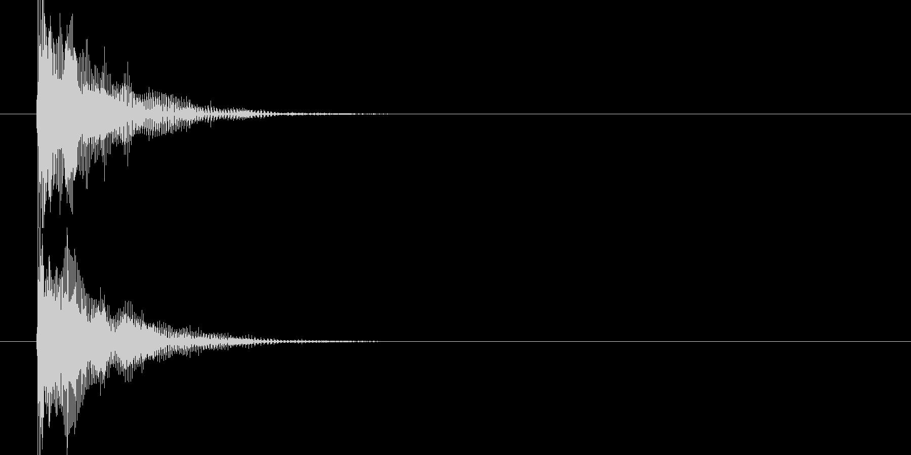 テューン(ゲームっぽい銃声)の未再生の波形