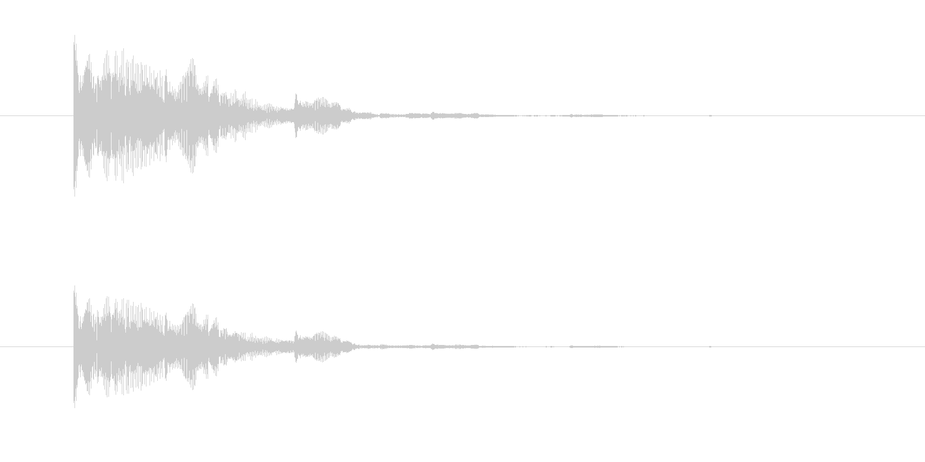 ぷわんぷわん(空気音、脱力感)の未再生の波形