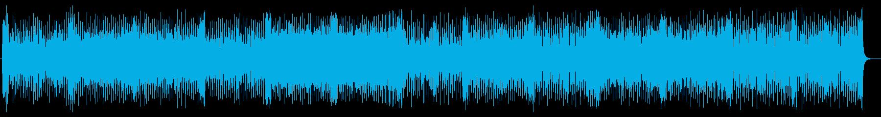 現代的で軽やかなシンセサイザーのポップスの再生済みの波形