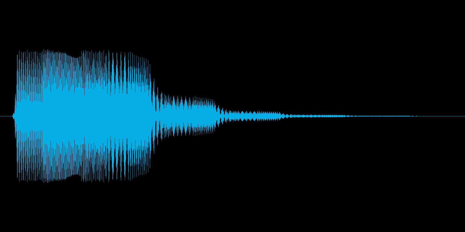 ファミコン風効果音決定音系です 07の再生済みの波形