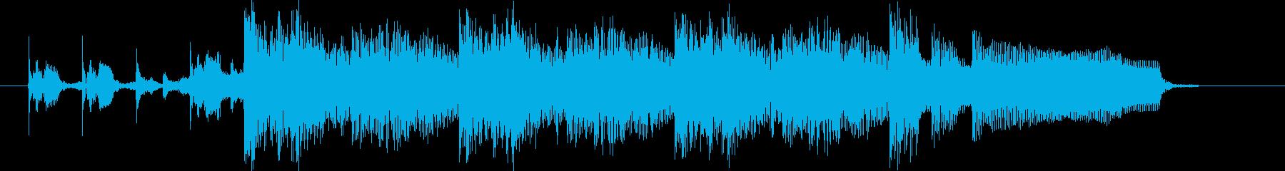 シンセサイザー・EDM系ジングルの再生済みの波形