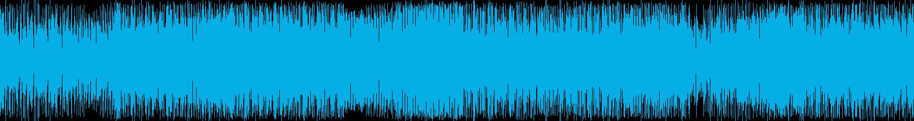 【ループ】疾走感のあるダンスミュージックの再生済みの波形