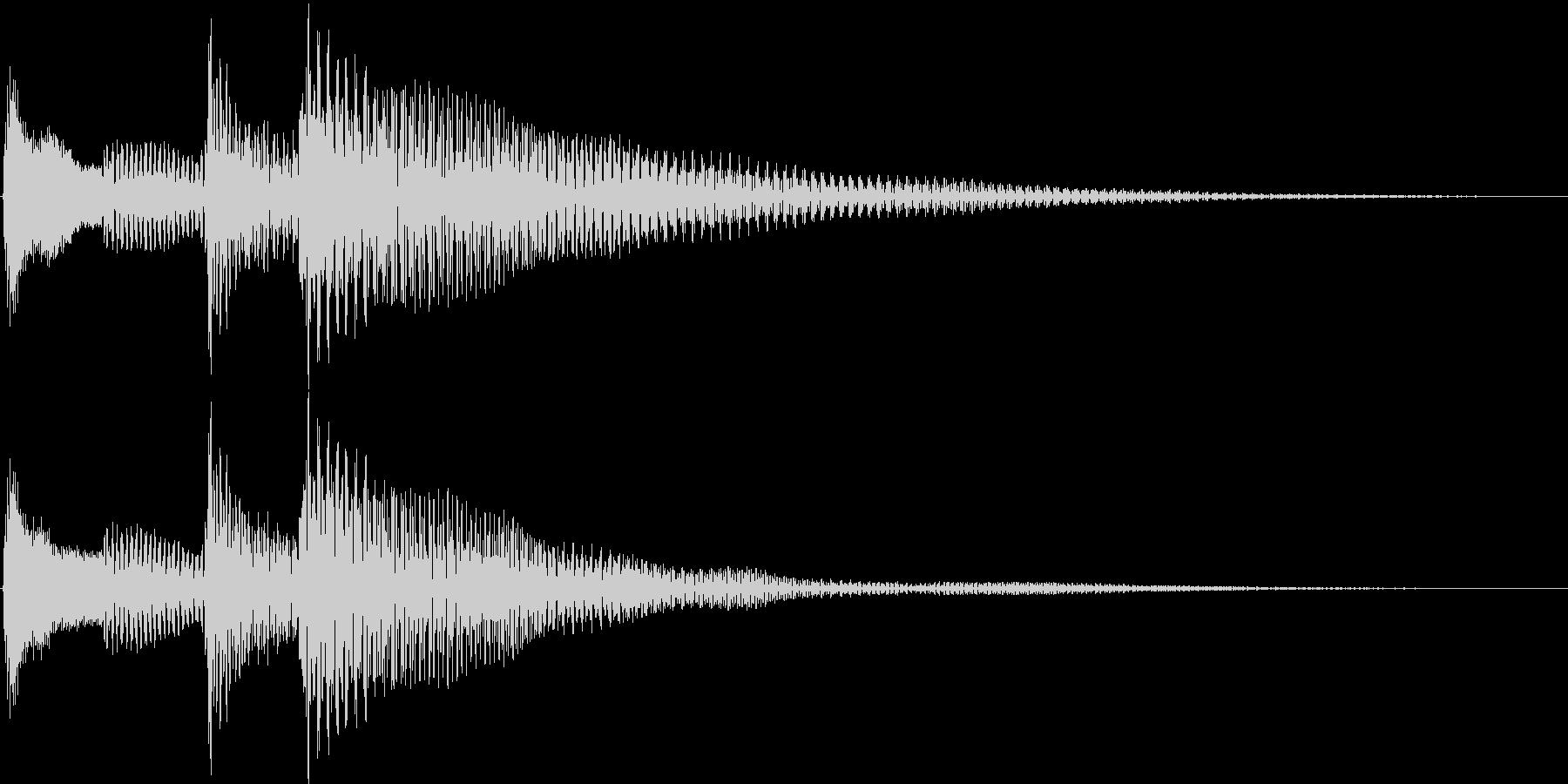 ポロロン↓(キャンセル、移動、ギター)の未再生の波形