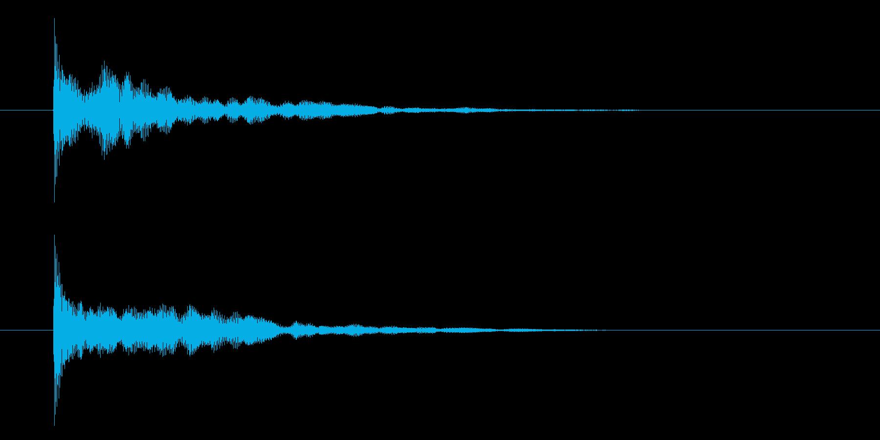 シンセピチカートのサウンドロゴ2の再生済みの波形