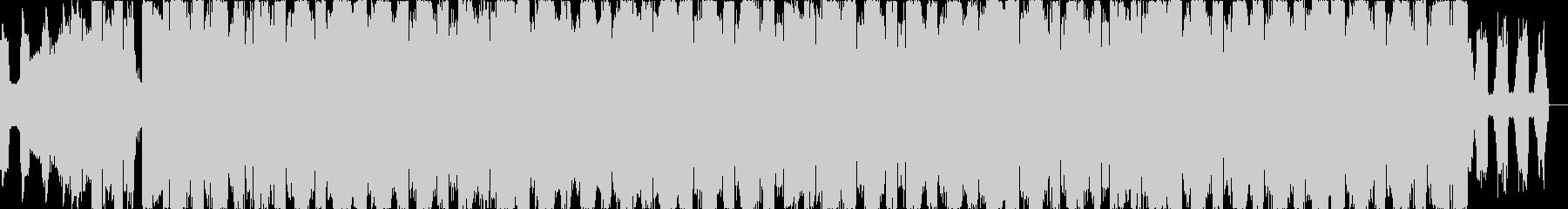 ゆらめくダンサンブルエレクトロニカEDMの未再生の波形