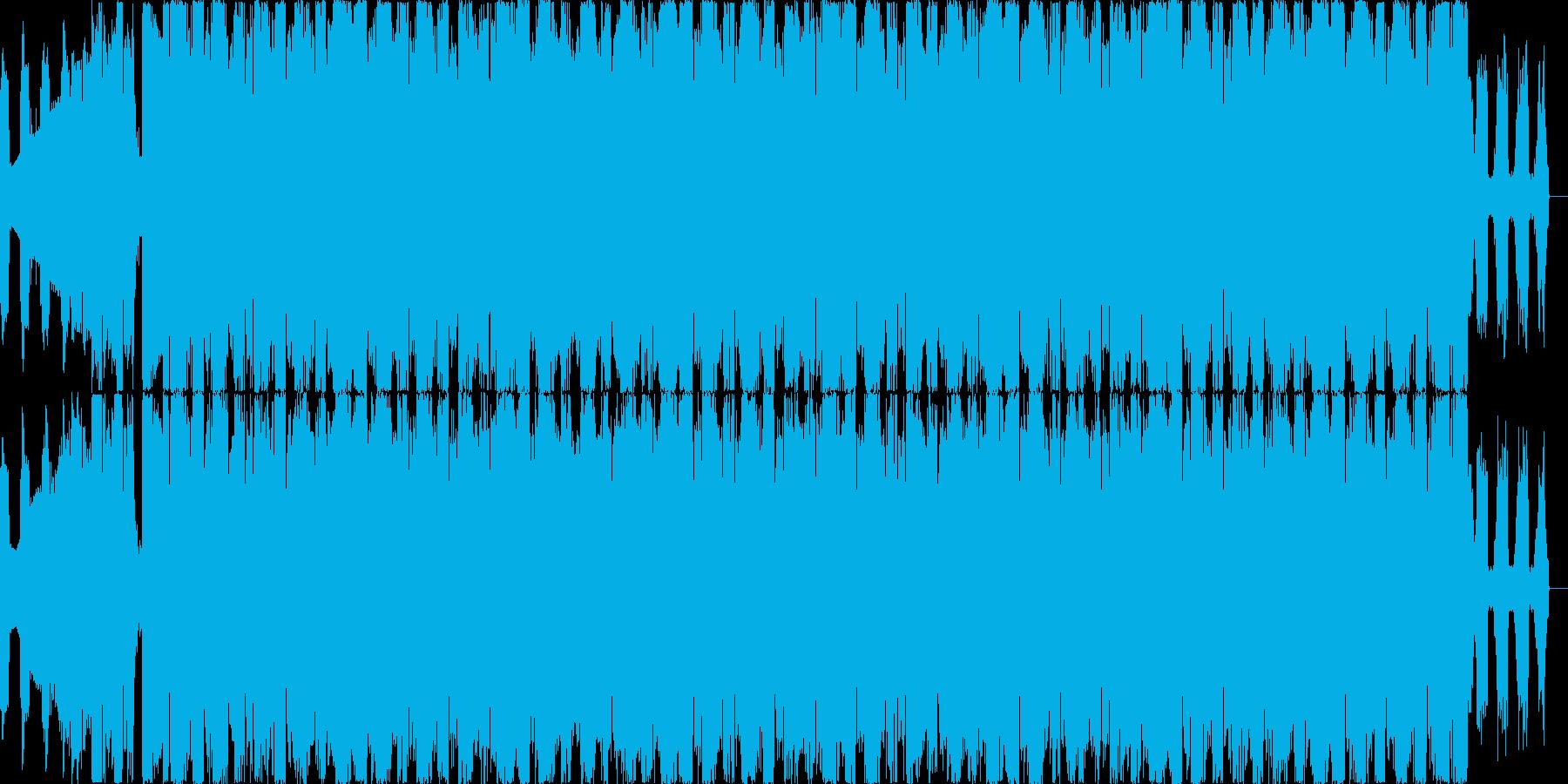 ゆらめくダンサンブルエレクトロニカEDMの再生済みの波形