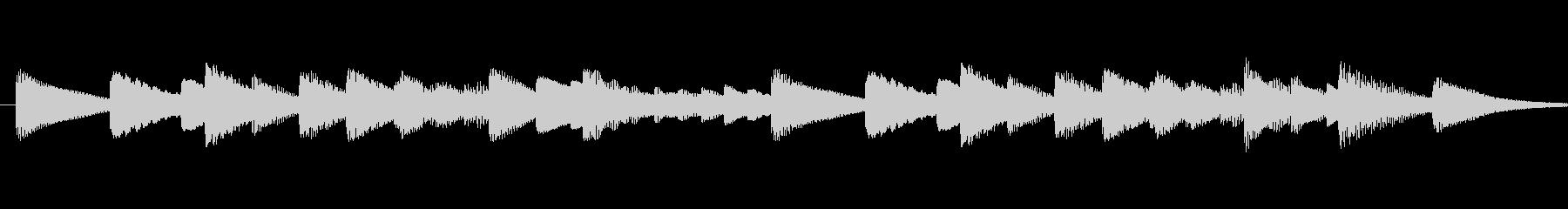 結婚式定番の結婚式行進曲のオルゴールの未再生の波形