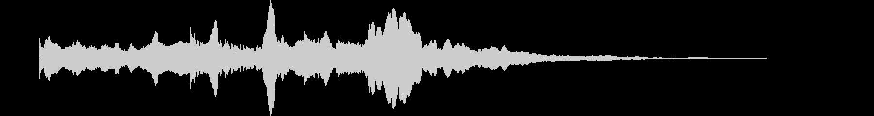 幻想的なジングル の未再生の波形