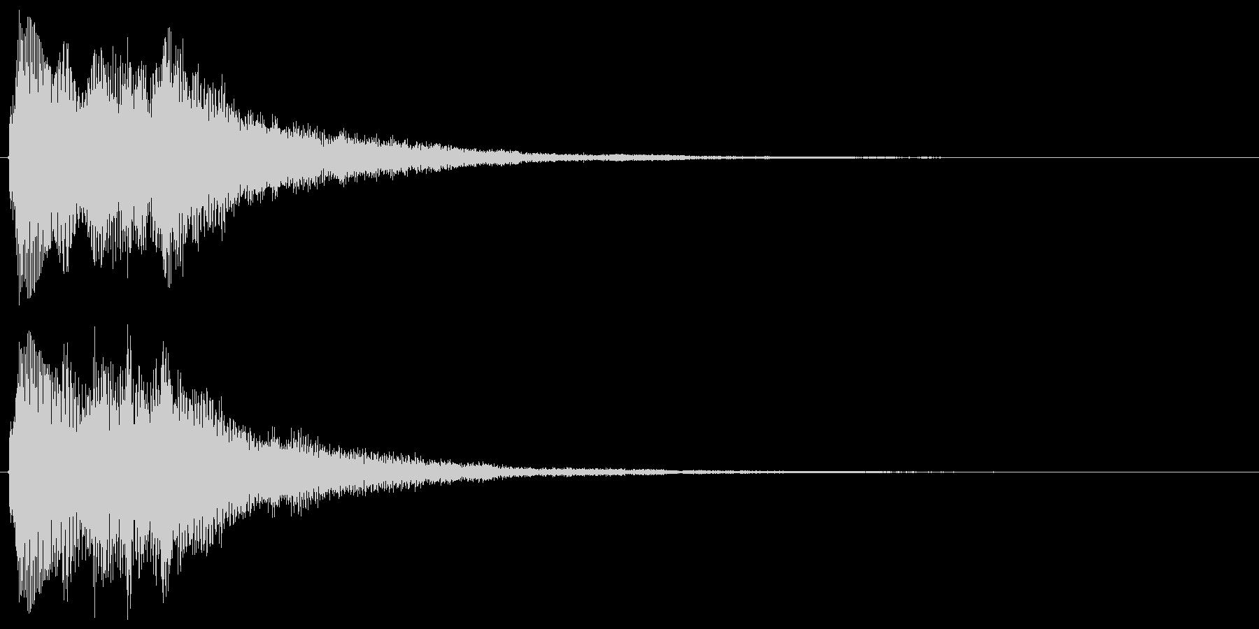 チャララララン↑(決定音、琴)の未再生の波形