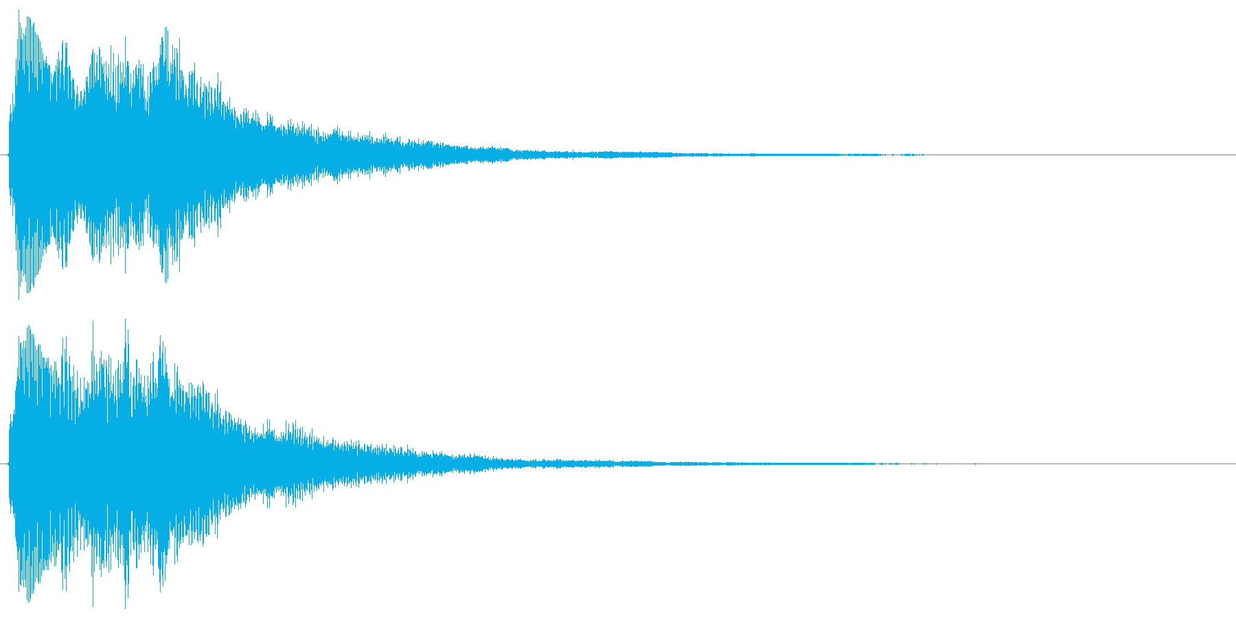 チャララララン↑(決定音、琴)の再生済みの波形